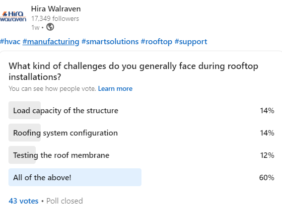 What kind of challenges do you generally face during rooftop installations - Post 1